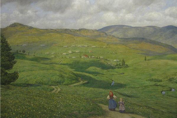 Bernau: Gemälde von Hans Thoma von 1904, Blick auf Bernau