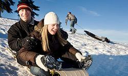 Auf der Winterrodelbahn am Geißkopf