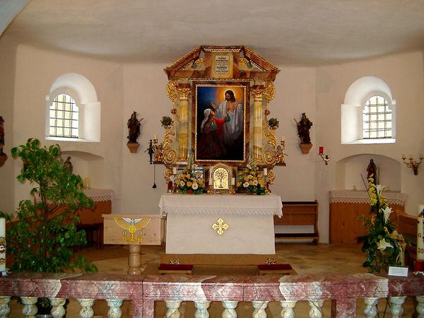 Altarraum der Kirche in Maisried bei Böbrach im ArberLand Bayerischer Wald