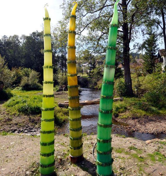 Kunstobjekt Urkraut in den Gläsernen Gärten von Frauenau