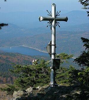Gipfelkreuz am Kleinen Rachel