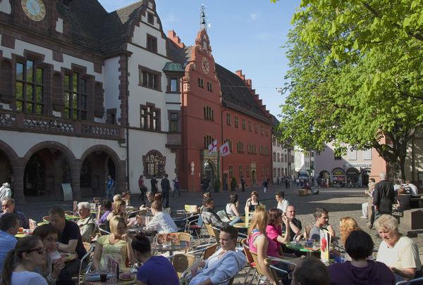 Freiburg Altes und Neues Rathaus