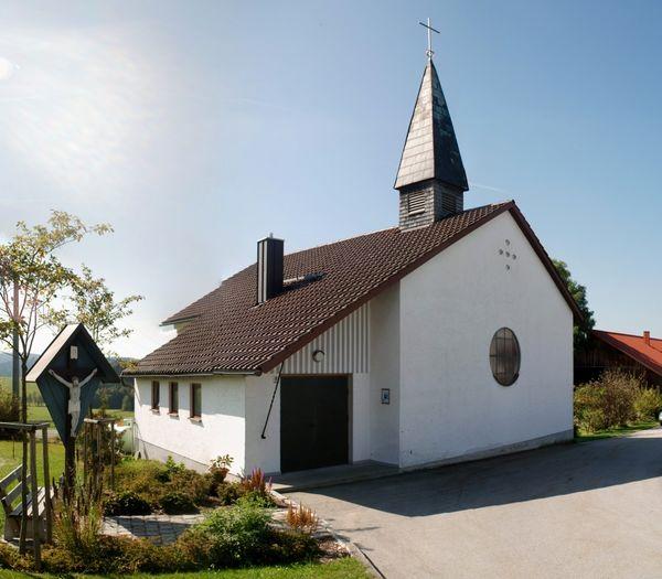 Die Sonndorfer Kapelle in der Gemeinde Hinterschmiding im Dreiländereck Bayerischer Wald
