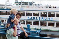 Familienausflug mit dem Fahrgastschiff MS Karlsruhe