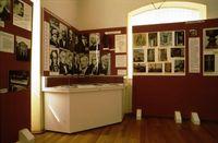 Karpatendeusches Museum Karlsruhe-Durlach, Innenansicht mit Portraitfotos