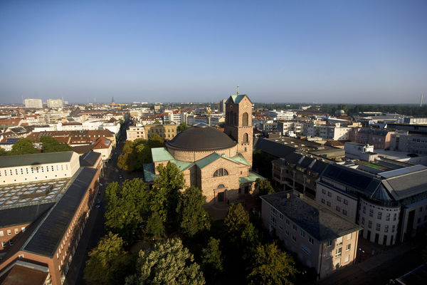 Pfarrkirche St. Stephan Luftbild Fotograf Mende