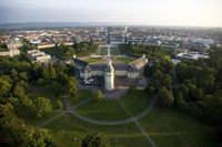 Karlsruher Schloss, Luftaufnahme