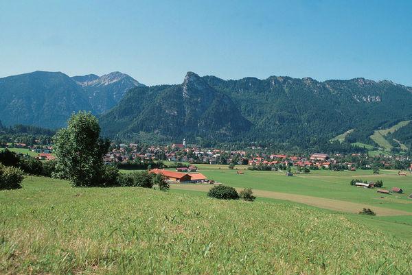 Aussicht von der Romanshöhe auf Oberammergau