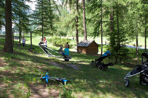 The Randa Wildi playground enjoys a beautiful natural setting.