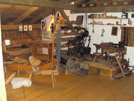 Schusterei im Heimatmuseum Rattenberg im Bayerischen Wald