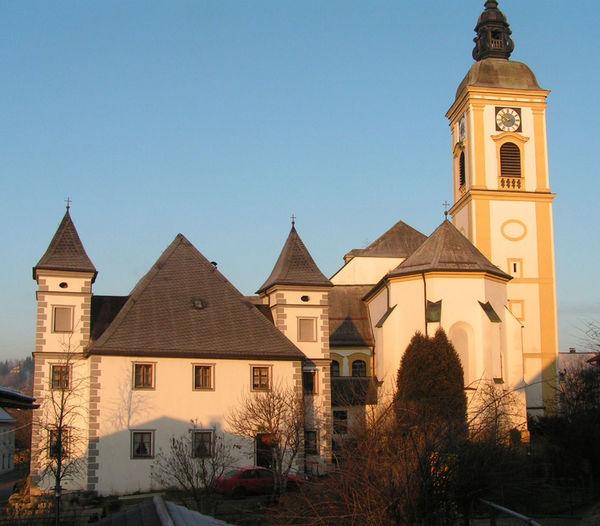 Blick auf das Benediktiner Kloster Rinchnach