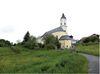 Blick auf die Klosterkirche in Sankt Oswald am Nationalpark Bayerischer Wald
