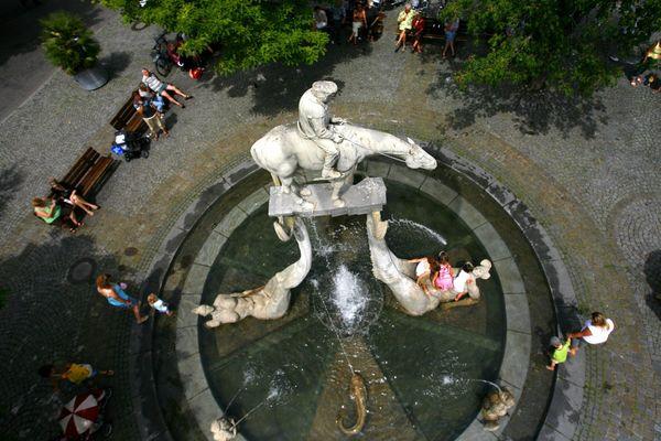 Lenkbrunnen auf dem Überlinger Landungsplatz