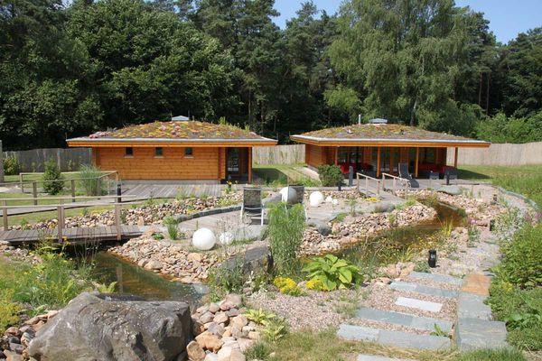 Außenbereich Saunalandschaft Differten