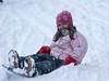 Kinderspaß beim Rodeln im Skigebiet Waldkirchen-Oberfrauenwald