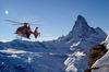 Der Helikopter der Air Zermatt kurz vor dem Rettungseinsatz.