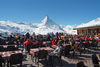 Sun terrace at Sunnegga: the perfect view of the Matterhorn.