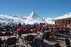 Sonnenterrasse auf Sunnegga: der perfekte Blick auf das Matterhorn.