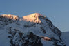 The sunrises on the Breithorn are a beautiful play of light and form.