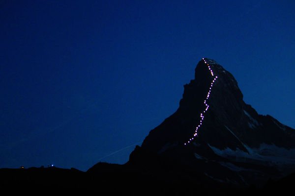 The Matterhorn illuminates three times every night at 9:15 pm, 10 pm, 10:30 pm, until the end of September 2015.