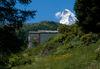 Unterhalb der Kapelle lohnt sich ein Blick Richtung Matterhorn.