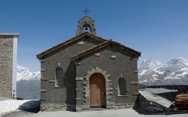 La chapelle sur le Gornergrat compte parmi les lieux de culte les plus fréquentés de Zermatt.