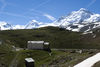 View to the east/south-east (from left): Monte Rosa massif, Liskamm, Breithorn.