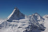 The north face of the Matterhorn seen from a helicopter.
