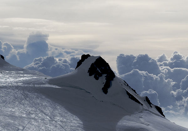 The Schwarzhorn is one of the outlying peaks of the Monte Rosa massif.