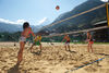 Beach volleyball in the centre of Zermatt: the Obere Matten sports and leisure area.
