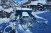 Village de Zermatt, le point de départ vers le sommet. Les remontées mécaniques franchissent, de Zermatt jusqu'au Petit Cervin, un dénivelé de 2'263 mètres.