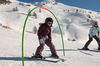 Aim for the hoop, ski through and smile – skiing is easy!