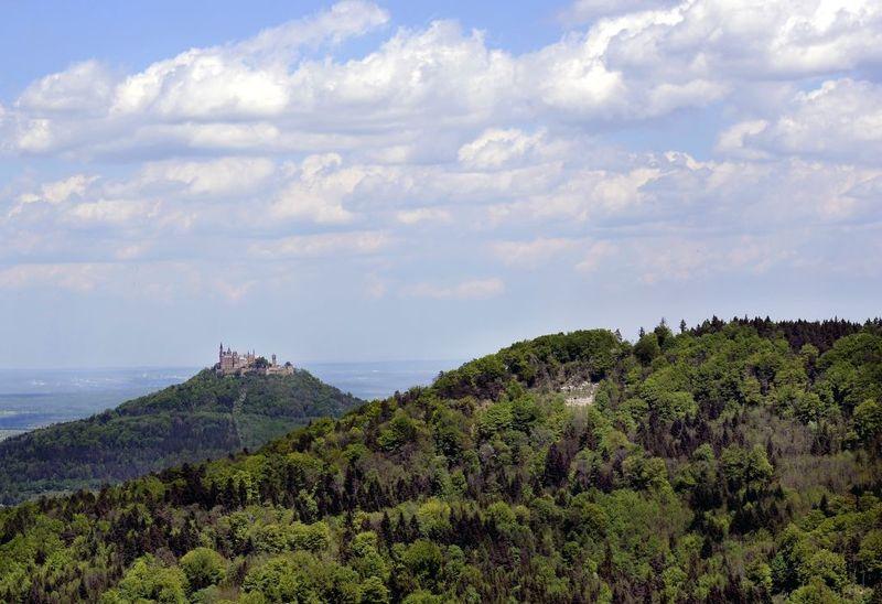 Blick Zur Burg Hohenzollern Schwaebische Alb