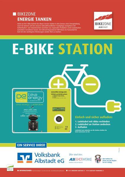Hinweisschild E-Bike Ladestationen