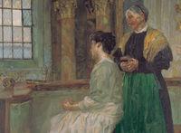 Aus der Ausstellung Christian Landenberger: Auf der Empore (Detail), 1912