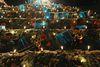 Musiker Weihnachtspyramide beim Weihnachtsmarkt in Albstadt-Ebingen