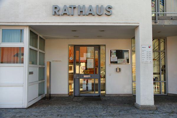 Das Rathaus in Altdorf bei Landshut