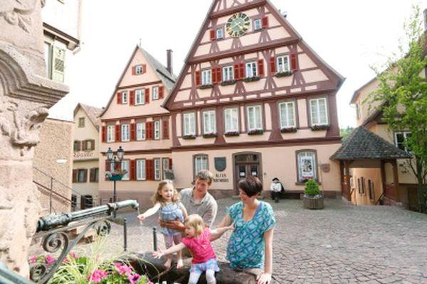 Altstadt mit Fachwerk in Altensteig