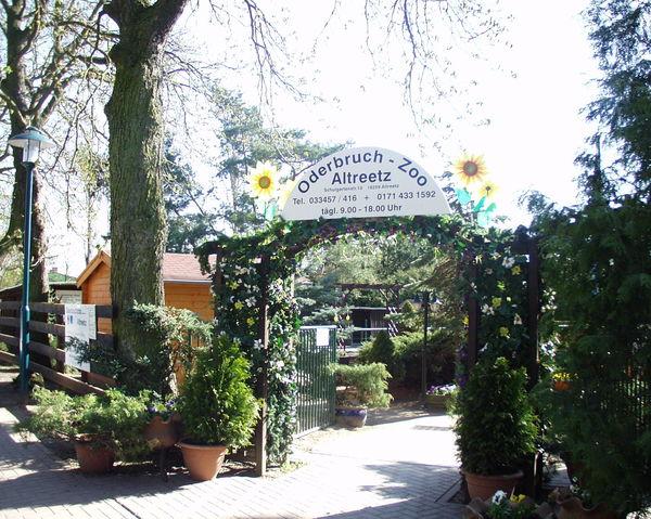 Oderbruchzoo Altreetz - Eingang zum Zoo