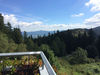 Wunderschöner Ausblick von der Terrasse der Kötztinger Hütte