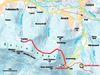 Streckenverlauf der Riedelsteinloipe bei Arrach