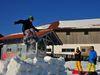 Winterspaß beim Snowboarden am Skilift Eck-Riedelstein im Bayerischen Wald