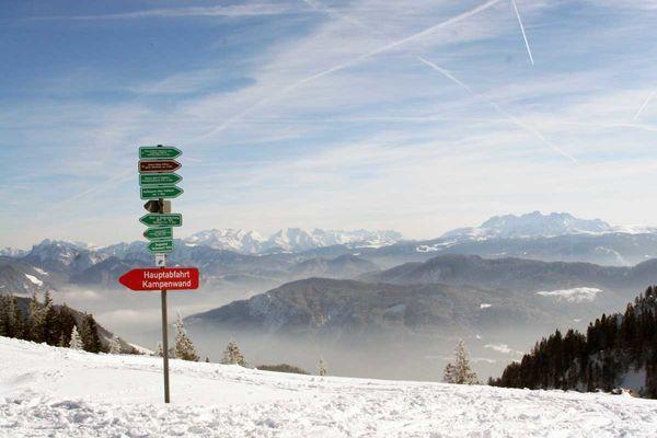 Skiabfahrt von der Kampenwand.