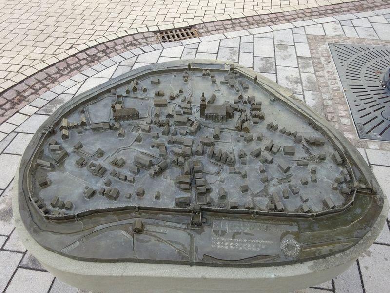 Blinden-Stadtmodel der Hansestadt Attendorn