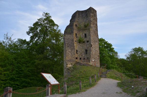 Die Burgruine Waldeburg