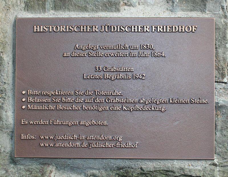 Juedischer Friedhof Attendorn Eingangstor