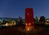Juedischer Friedhof Attendorn Gedenkstele bei Nacht