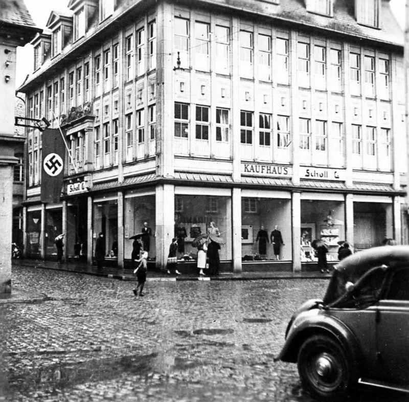 Das ehemaliger Kaufhaus Lenneberger in der NS zeit