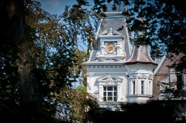 Turm vom Schloss Au in Au in der Hallertau