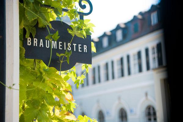 Innenhof der Schlossbrauerei Au-Hallertau